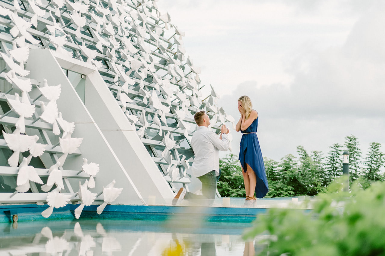 Ben & Amie's Surprise proposal Photography at Banyan Tree Resort Bali 5