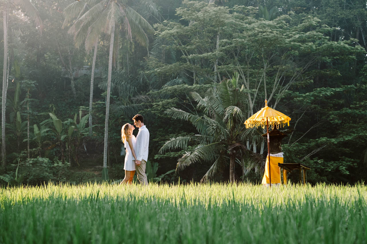 Anya & Denis: Honeymoon Photography in Ubud Bali 34