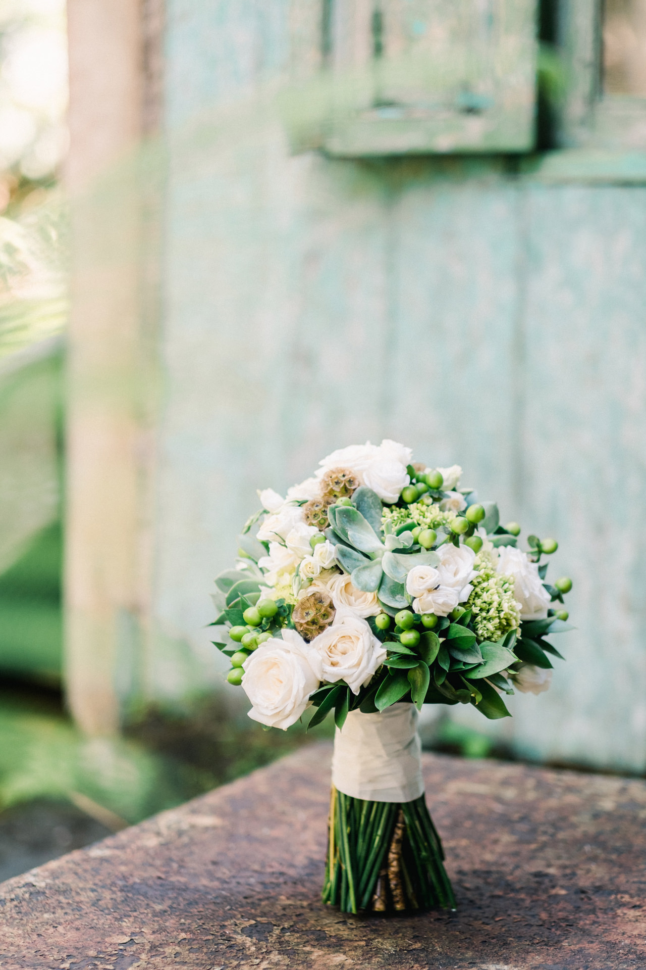 Succulent and Roses Bali Wedding Bouquet