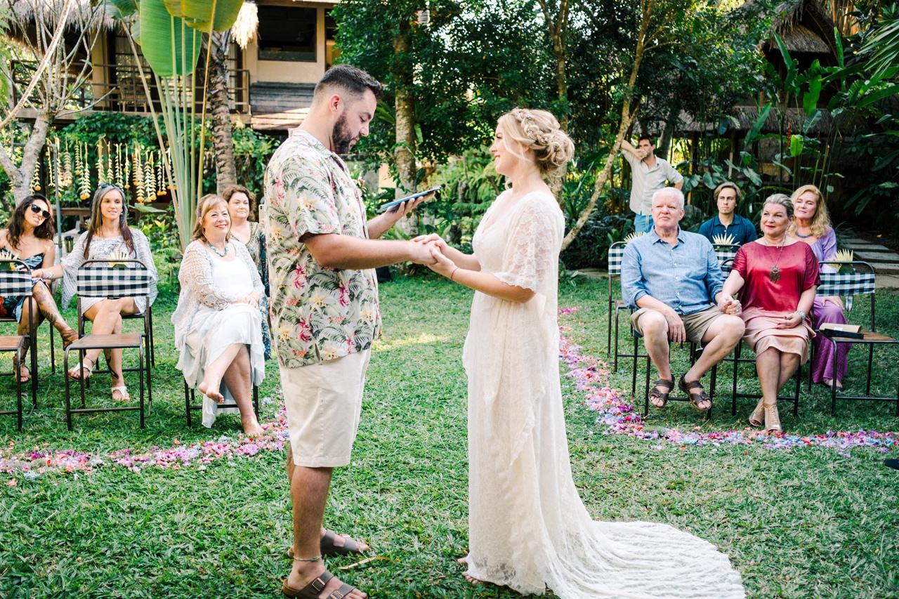 tropical greenery Bali wedding venue