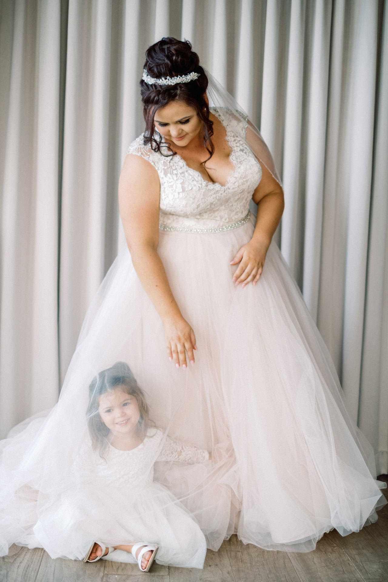 Bride and Daughter Wedding Photos Bali