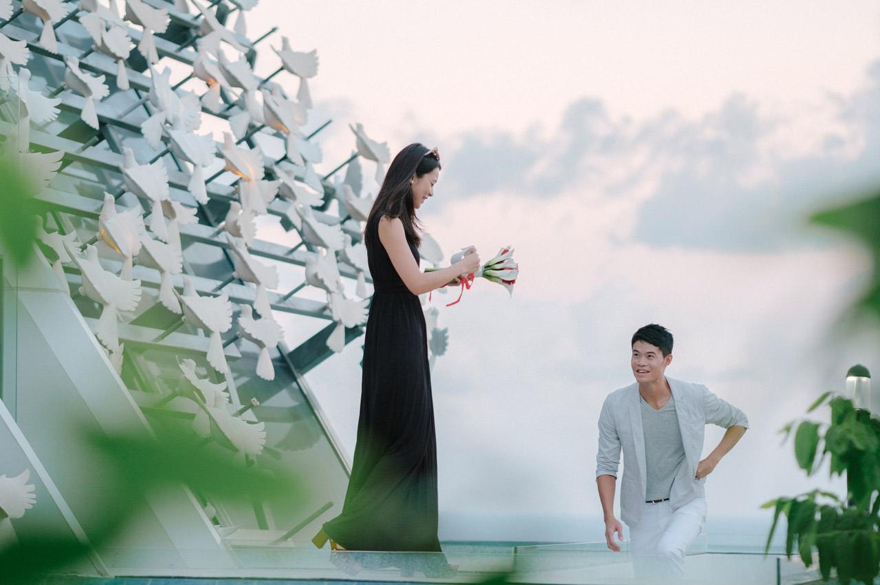 Arthur & Karman: Surprise Proposal Photography at Banyan Tree 9