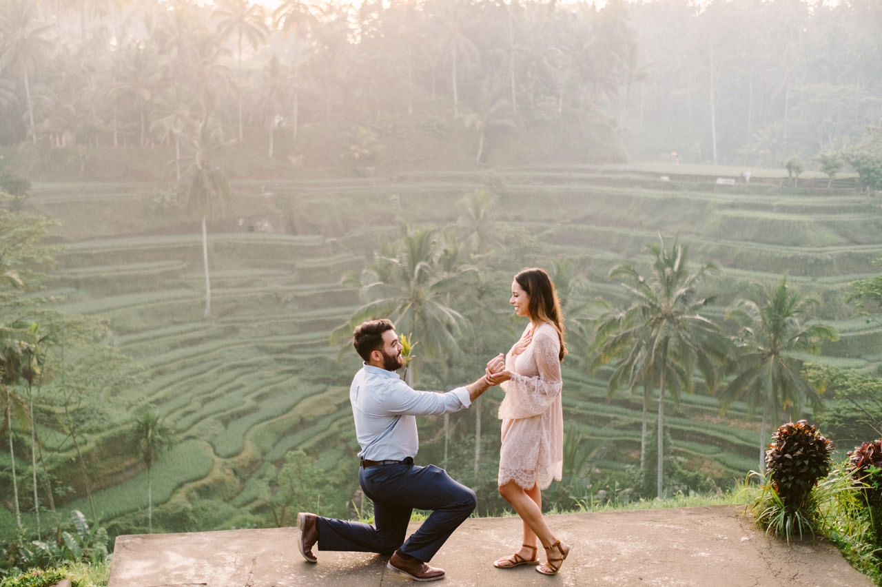 Andy & Lupe: Bali Proposal Photography at Tegalalang Rice Terrace 6