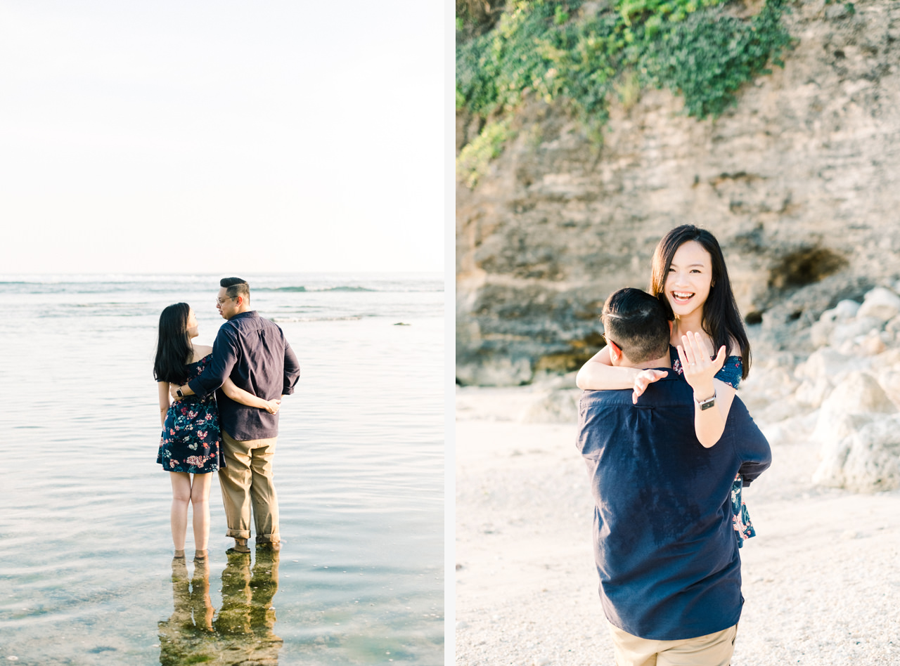 A&M: Cliffside and Amazing View Bali Surprise Proposal 16