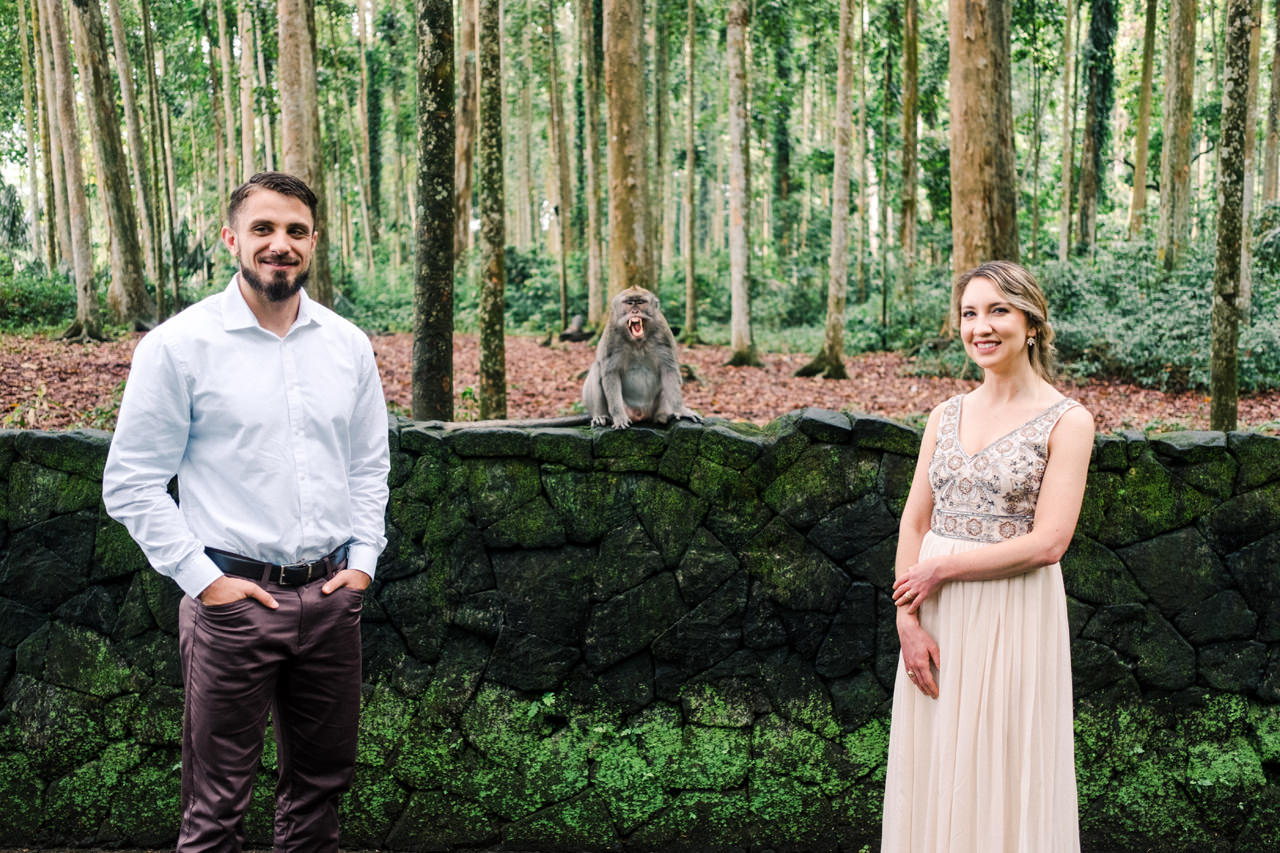 A&S: Engagement Session at Sangeh Monkey Forest 3