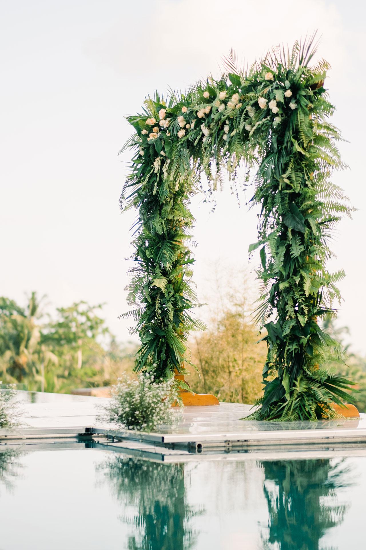 Tropical Bali Wedding Arch