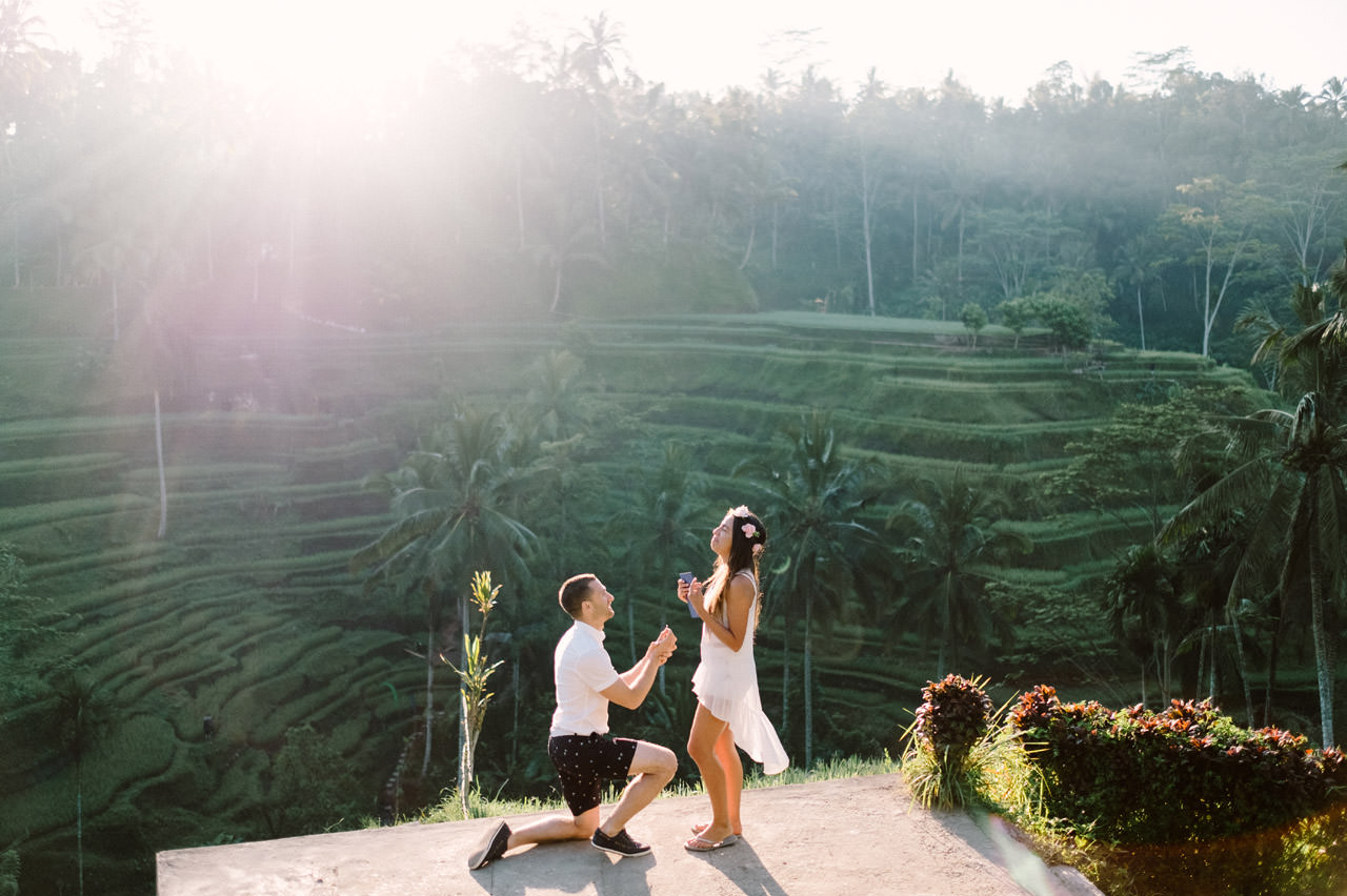 Bob & Vanessa: Ubud Bali Surprise Proposal Photography 2