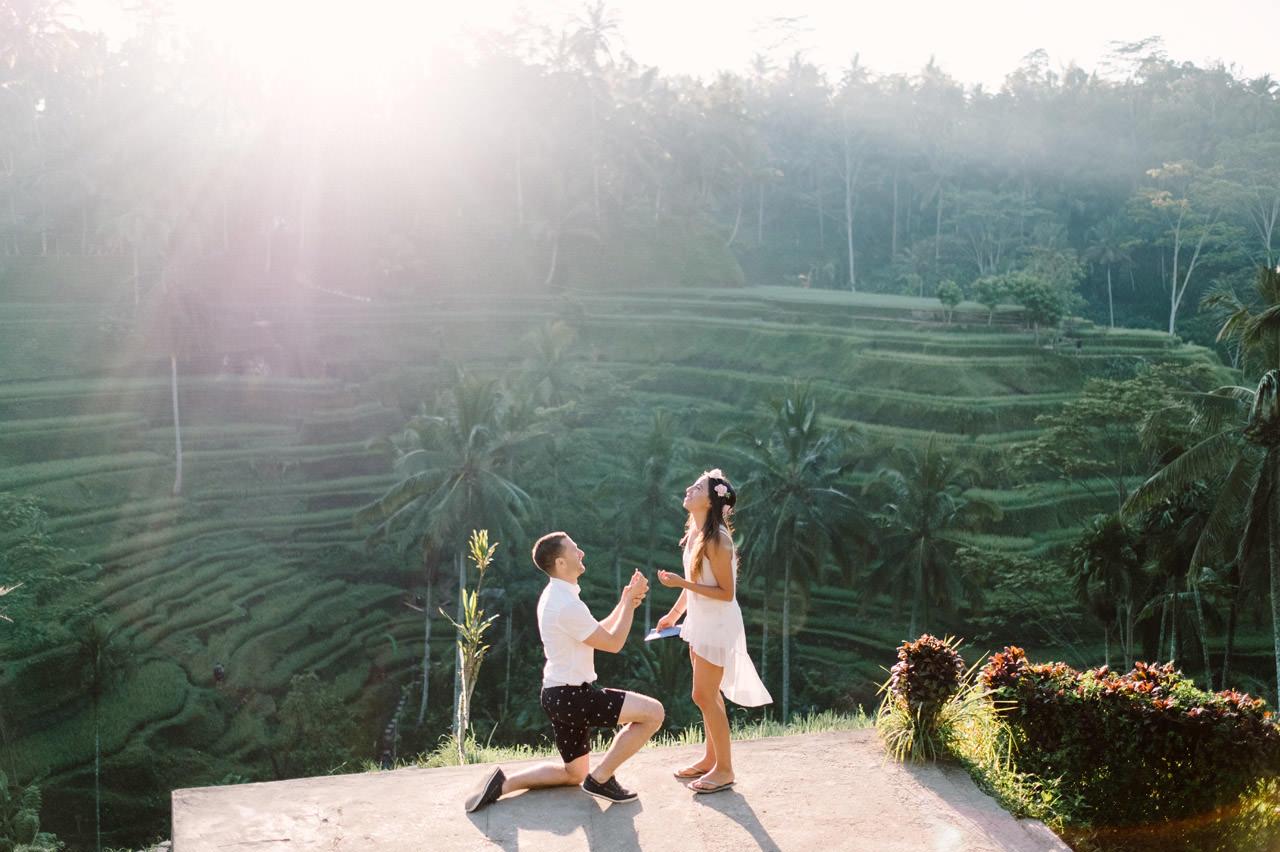 Bob & Vanessa: Ubud Bali Surprise Proposal Photography 3