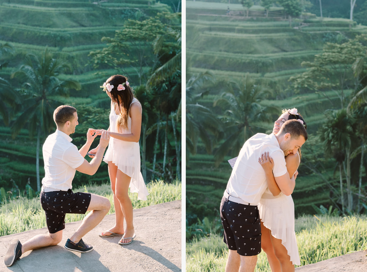 Bob & Vanessa: Ubud Bali Surprise Proposal Photography 4