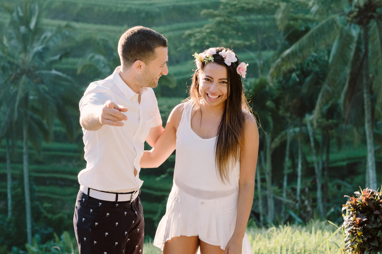 Bob & Vanessa: Ubud Bali Surprise Proposal Photography 5