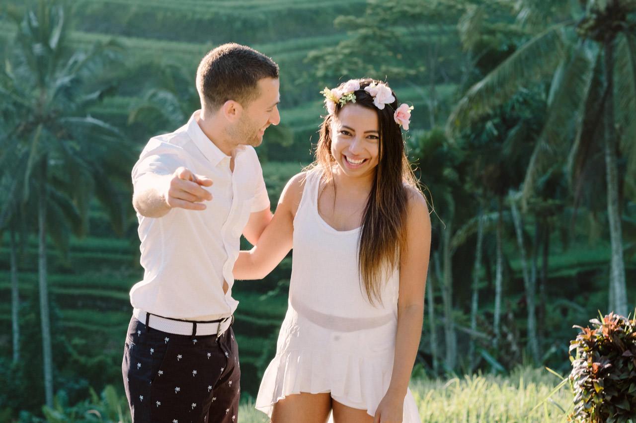 Bob & Vanessa: Ubud Bali Surprise Proposal Photography 5