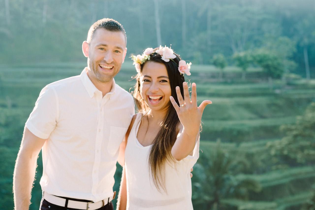 Bob & Vanessa: Ubud Bali Surprise Proposal Photography 7