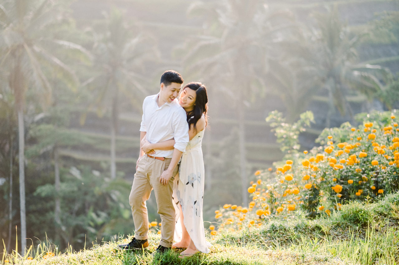 C&B: Romantic Bali Waterfall Engagement Session 4