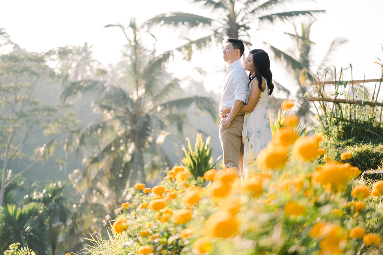 C&B: Romantic Bali Waterfall Engagement Session 5