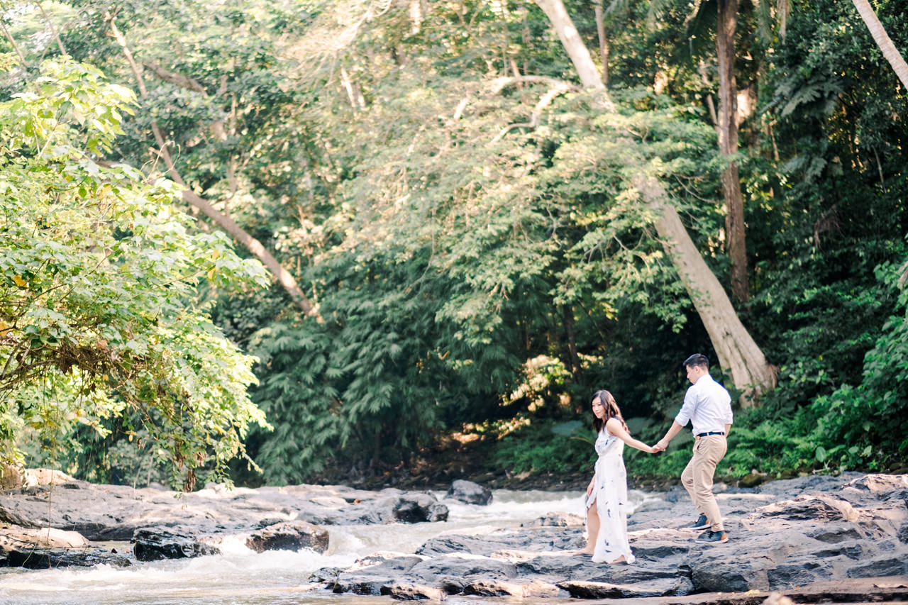 C&B: Romantic Bali Waterfall Engagement Session 8