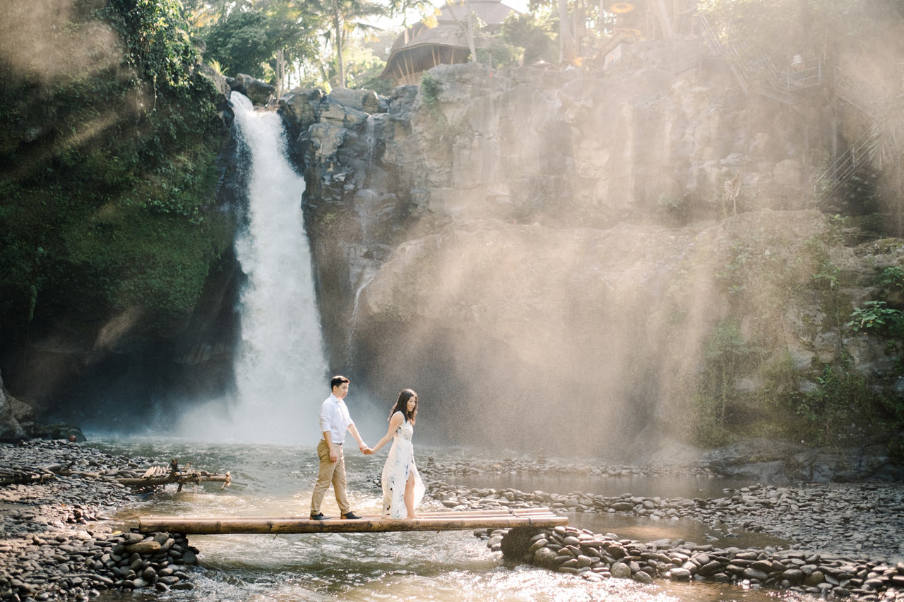 C&B: Romantic Bali Waterfall Engagement Session 9