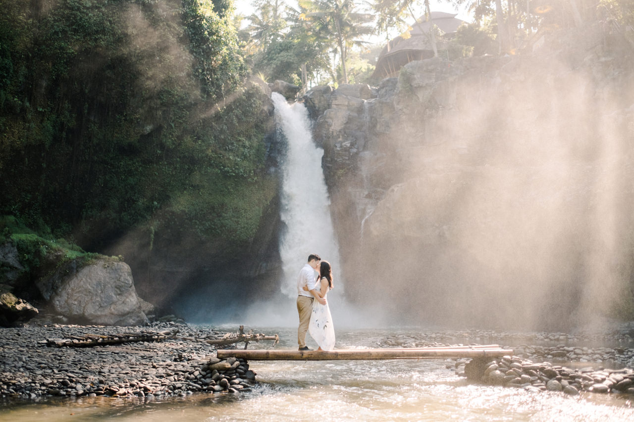 C&B: Romantic Bali Waterfall Engagement Session 10