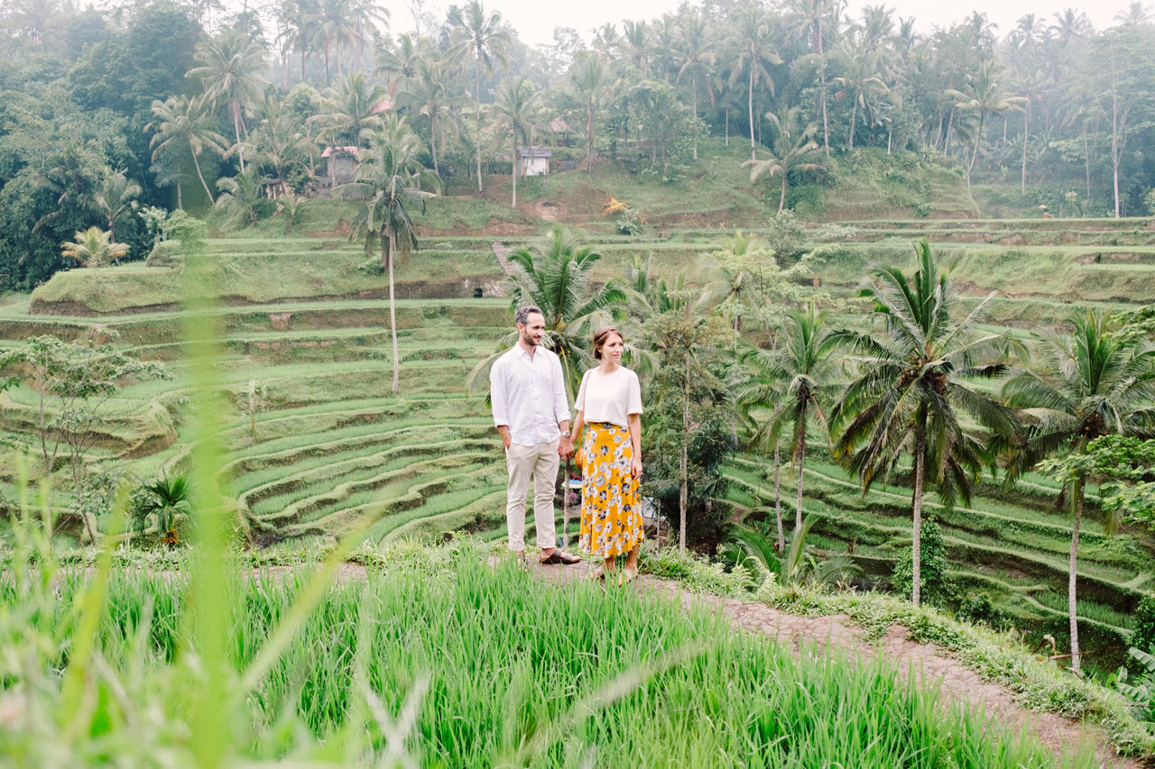C&F: Casual Engagement Session in Tegalalang Rice Terraces Lush Greenery 1