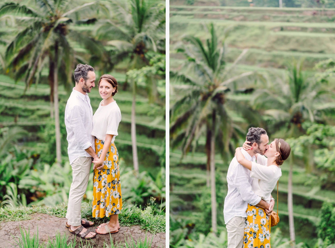 C&F: Casual Engagement Session in Tegalalang Rice Terraces Lush Greenery 2