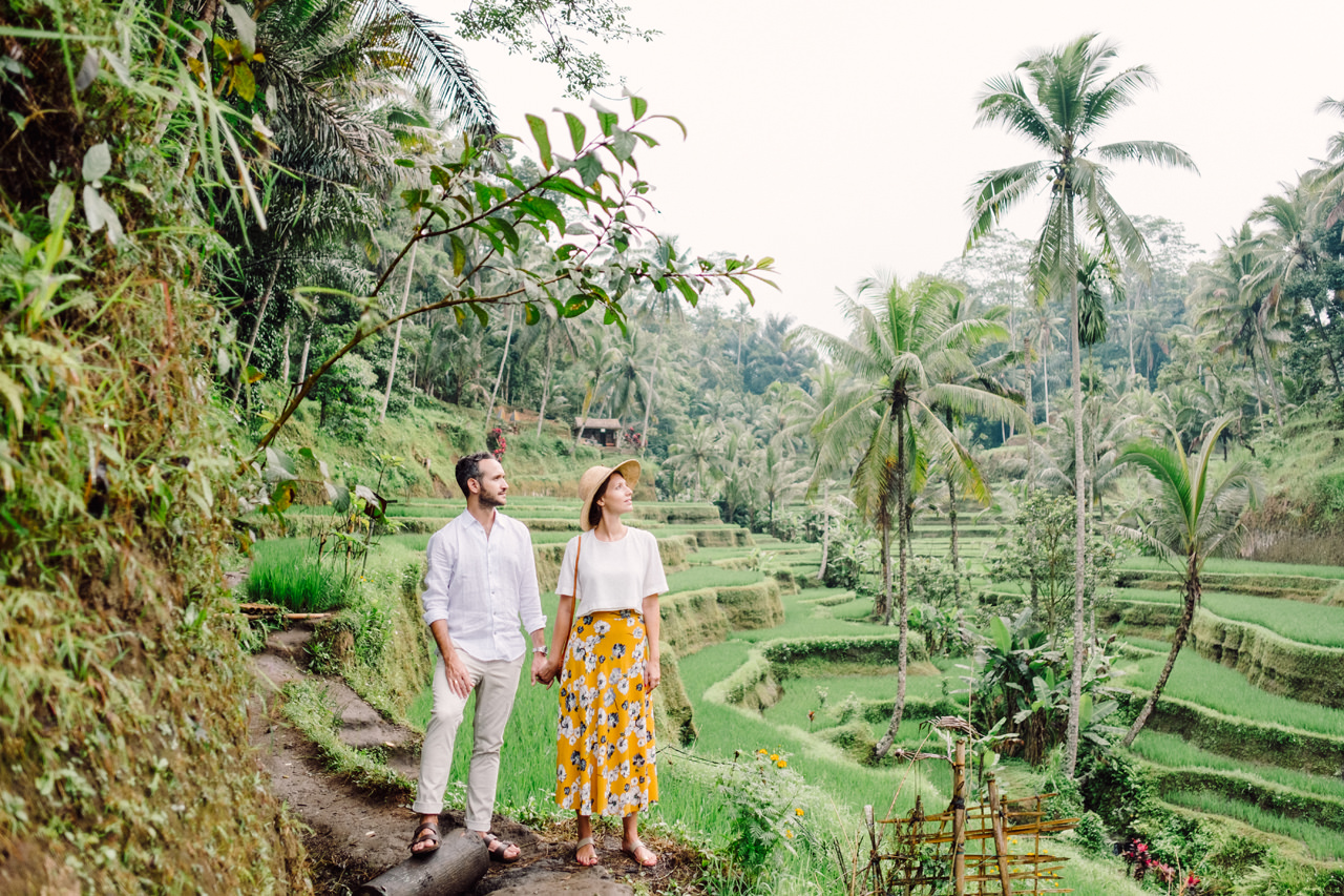 C&F: Casual Engagement Session in Tegalalang Rice Terraces Lush Greenery 7