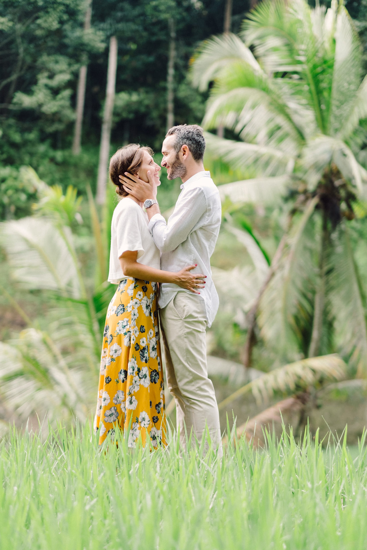 C&F: Casual Engagement Session in Tegalalang Rice Terraces Lush Greenery 8