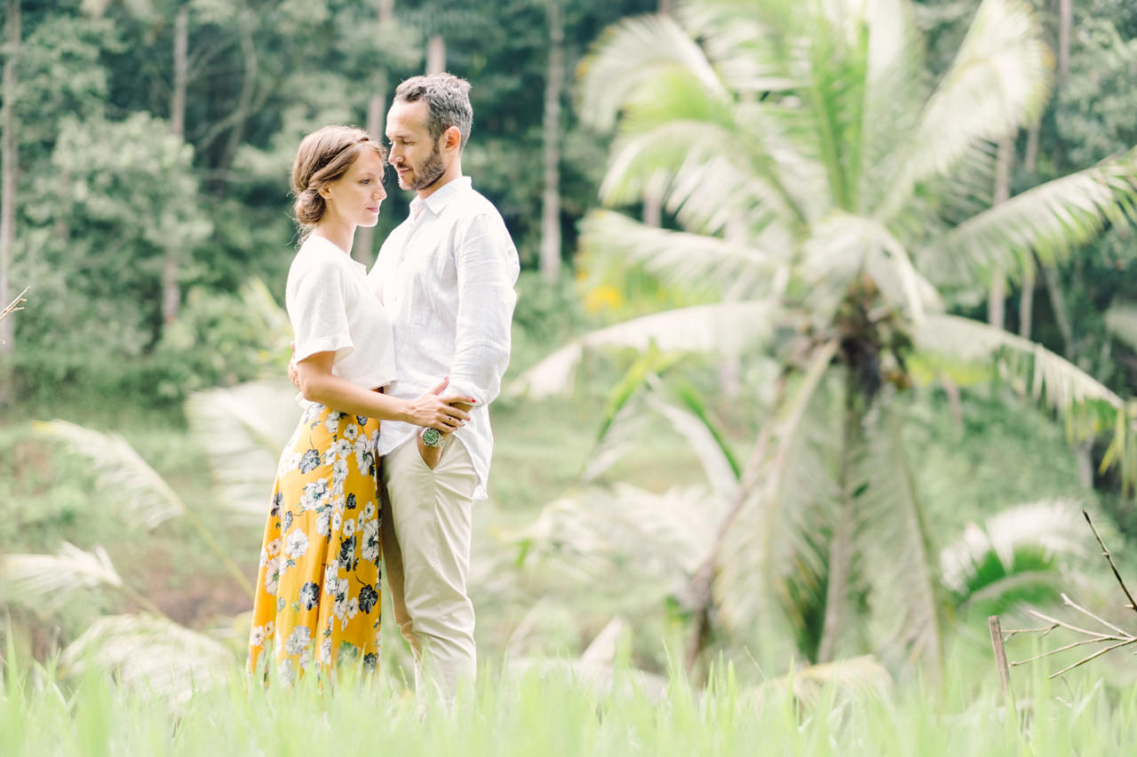 C&F: Casual Engagement Session in Tegalalang Rice Terraces Lush Greenery 9