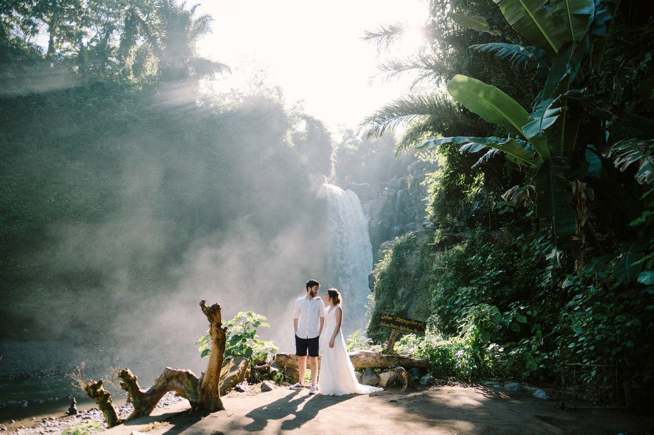Caglar & Oguz: Tegenungan Waterfall Bali Honeymoon Shoot 15