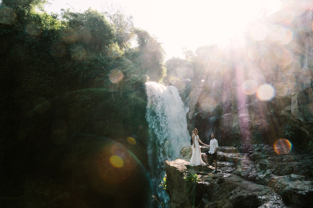 Caglar & Oguz: Tegenungan Waterfall Bali Honeymoon Shoot 17