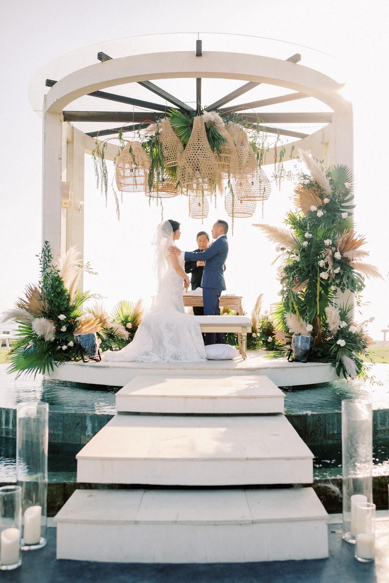 Beachfront Villa Phalosa Seminyak Wedding 33