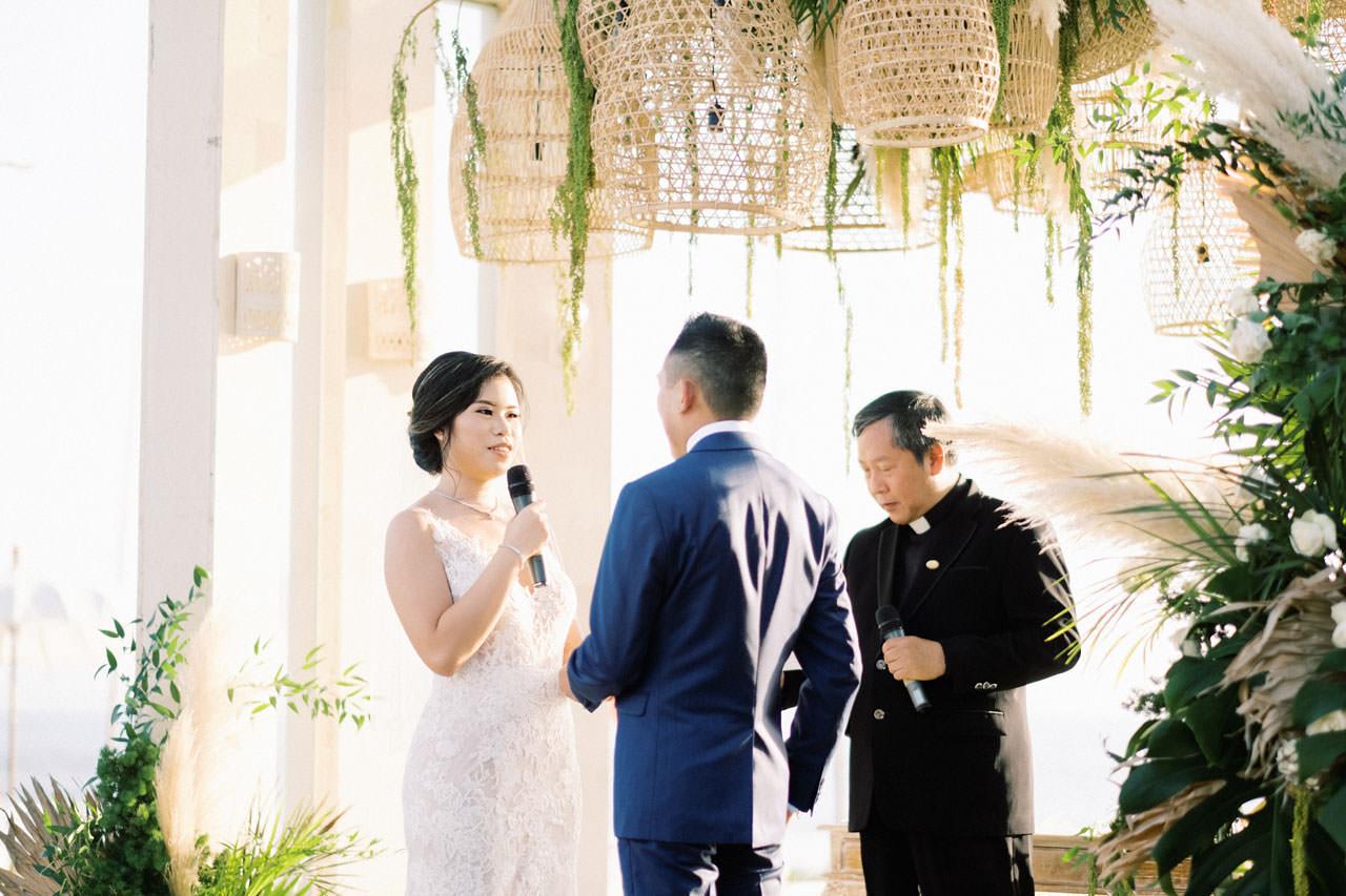 Beachfront Villa Phalosa Seminyak Wedding 36