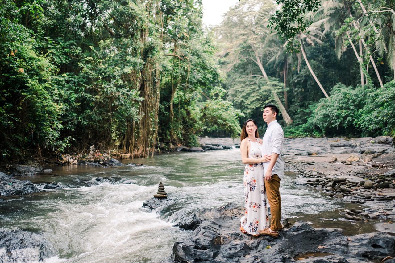 Adventurous Waterfall Surprise Proposal - Bali Vacation Proposal Ideas 1