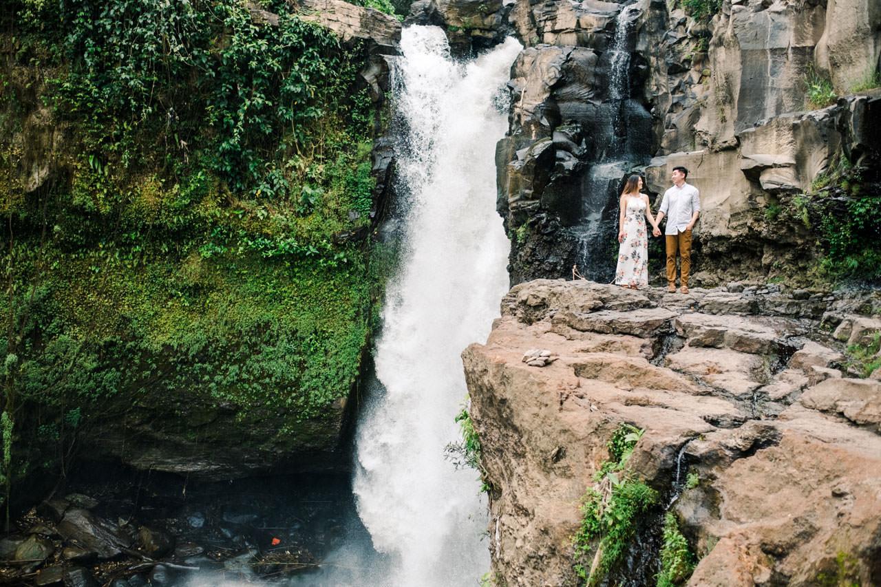 Adventurous Waterfall Surprise Proposal - Bali Vacation Proposal Ideas 4