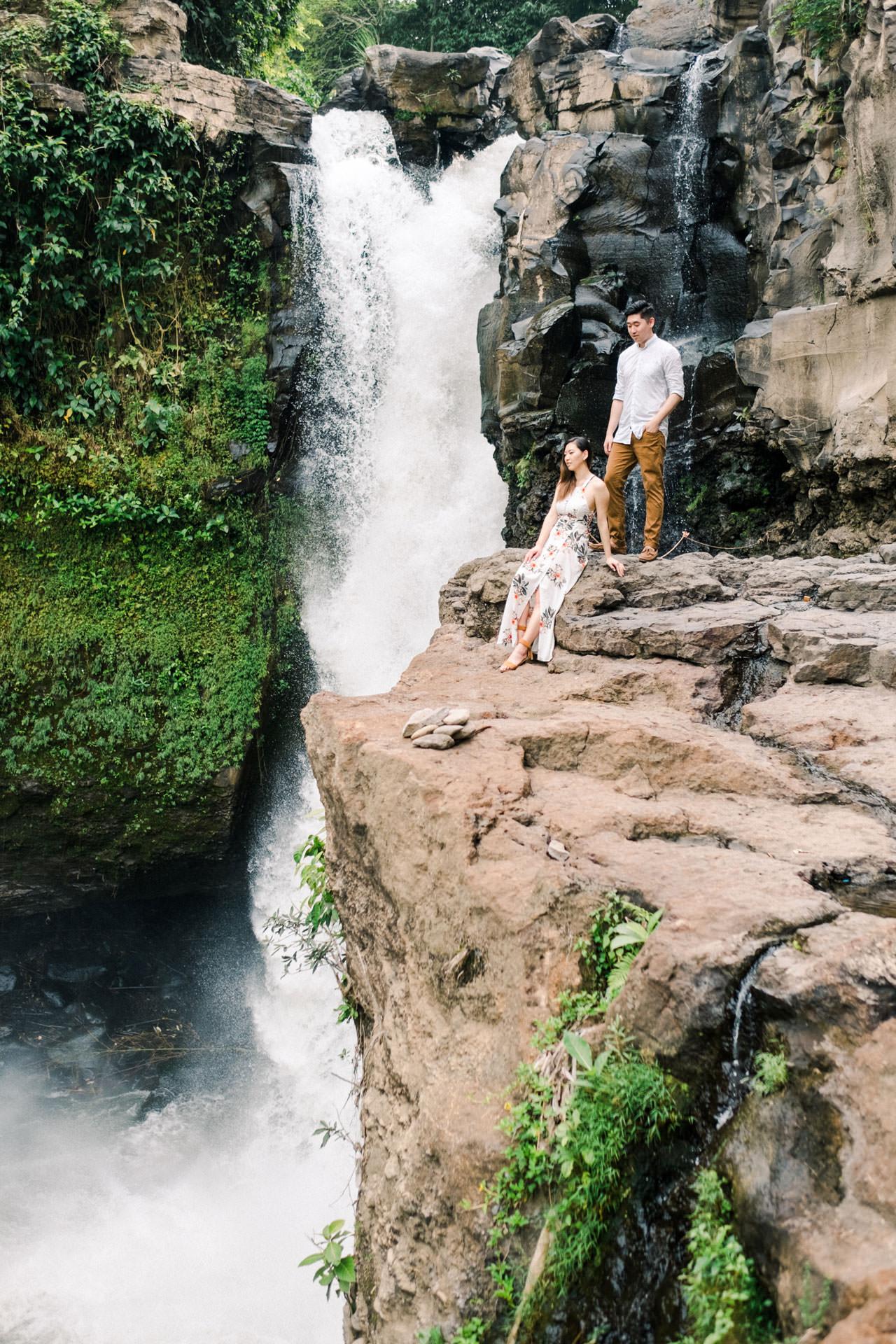 Adventurous Waterfall Surprise Proposal - Bali Vacation Proposal Ideas 6