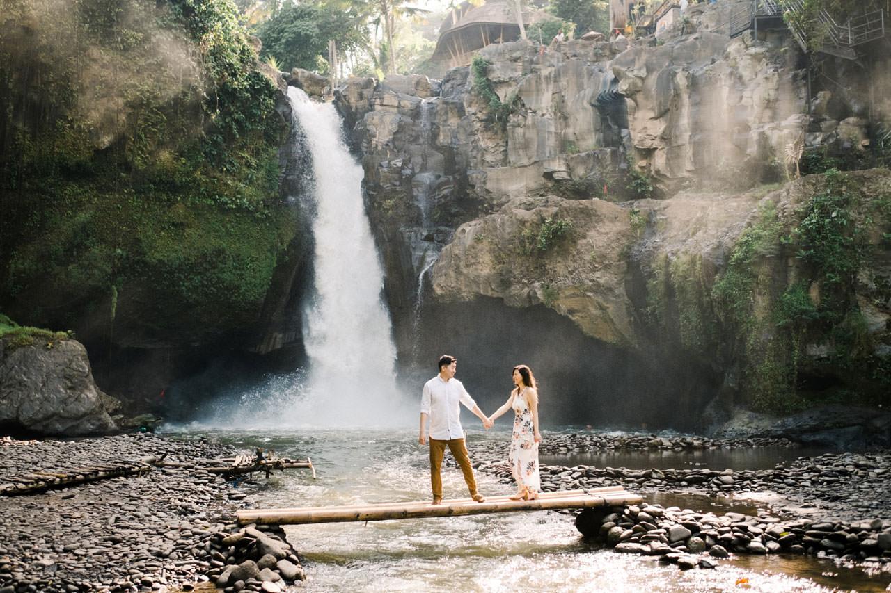 "Adventurous Waterfall Surprise Proposal - Bali Vacation Proposal Ideas 7"" width="