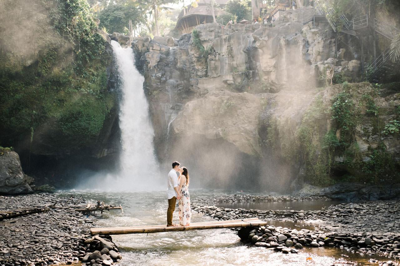 Adventurous Waterfall Surprise Proposal - Bali Vacation Proposal Ideas 8