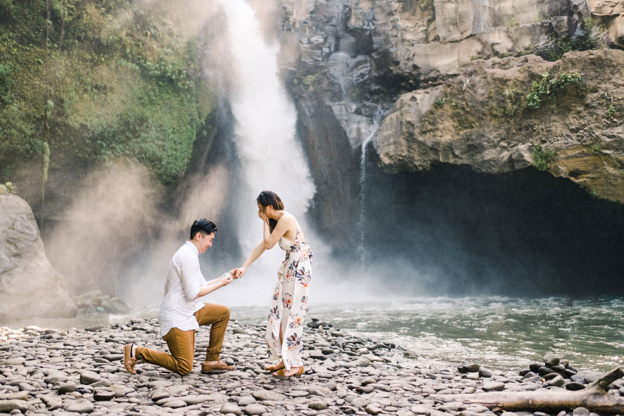 Adventurous Waterfall Surprise Proposal - Bali Vacation Proposal Ideas 12