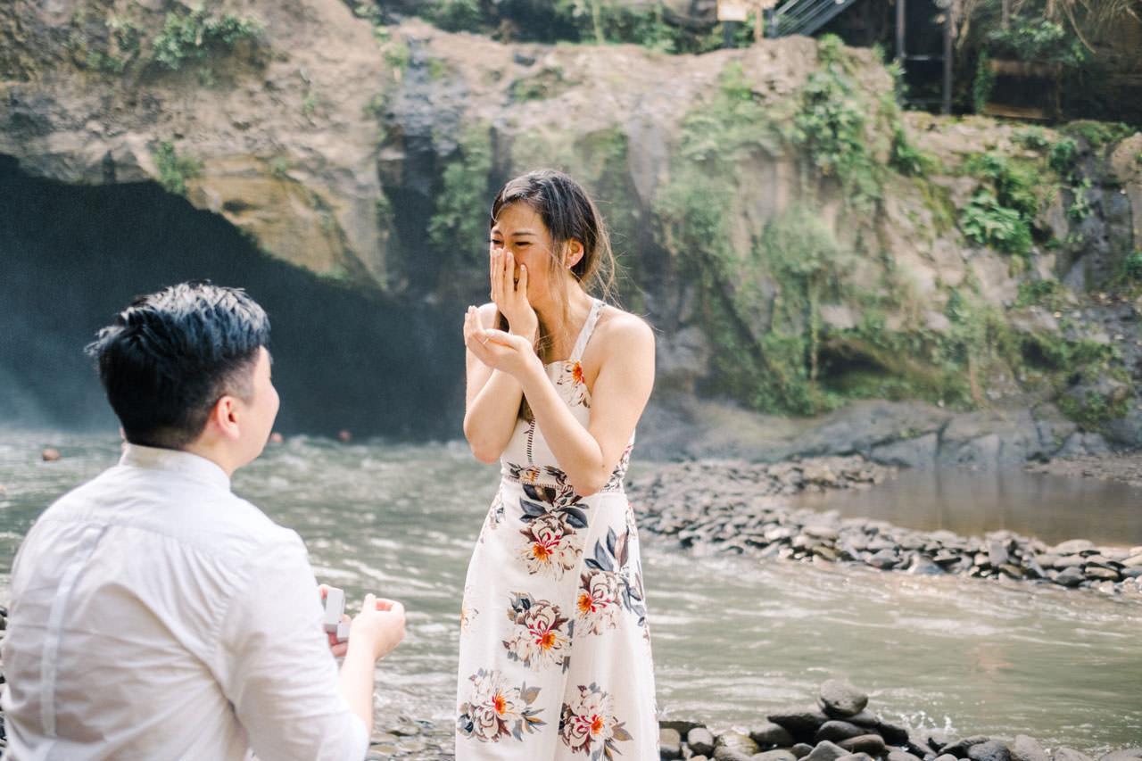 Adventurous Waterfall Surprise Proposal - Bali Vacation Proposal Ideas 13