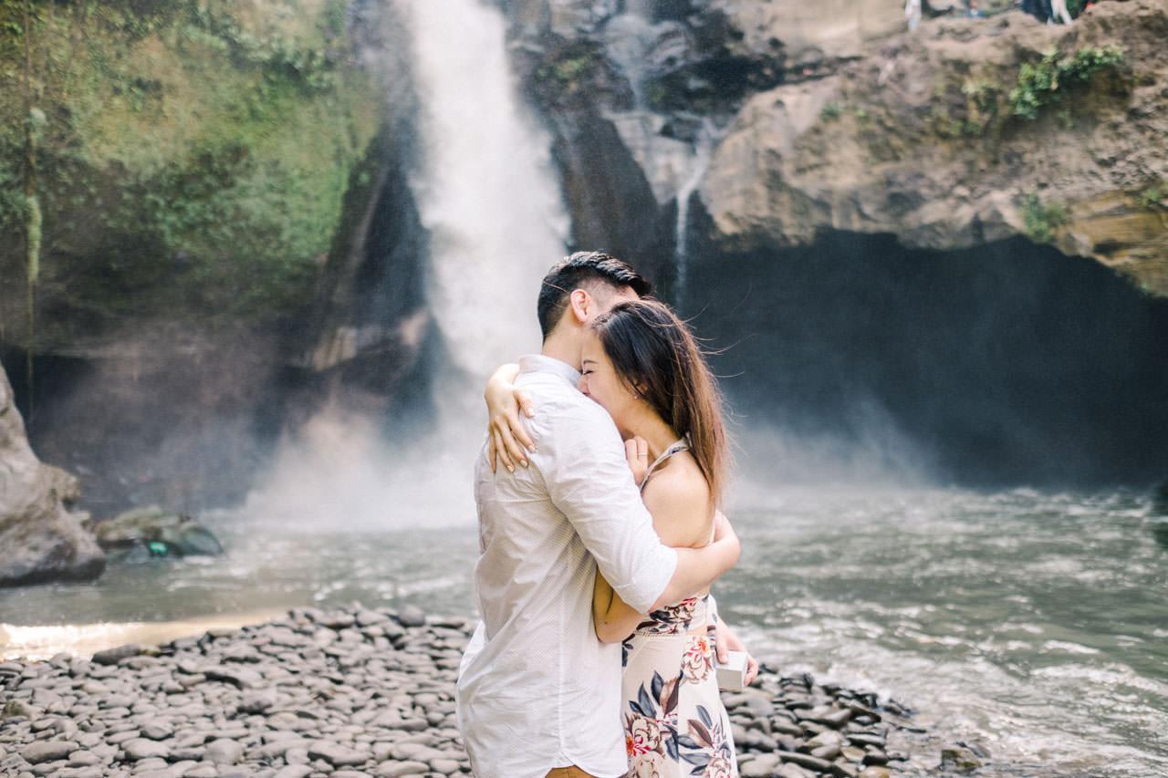 Adventurous Waterfall Surprise Proposal - Bali Vacation Proposal Ideas 18
