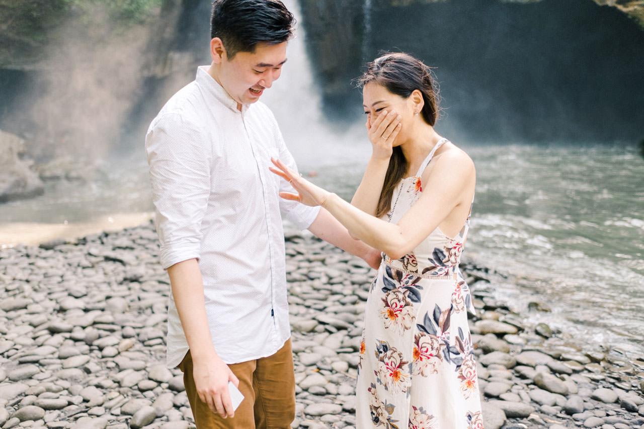 Adventurous Waterfall Surprise Proposal - Bali Vacation Proposal Ideas 19