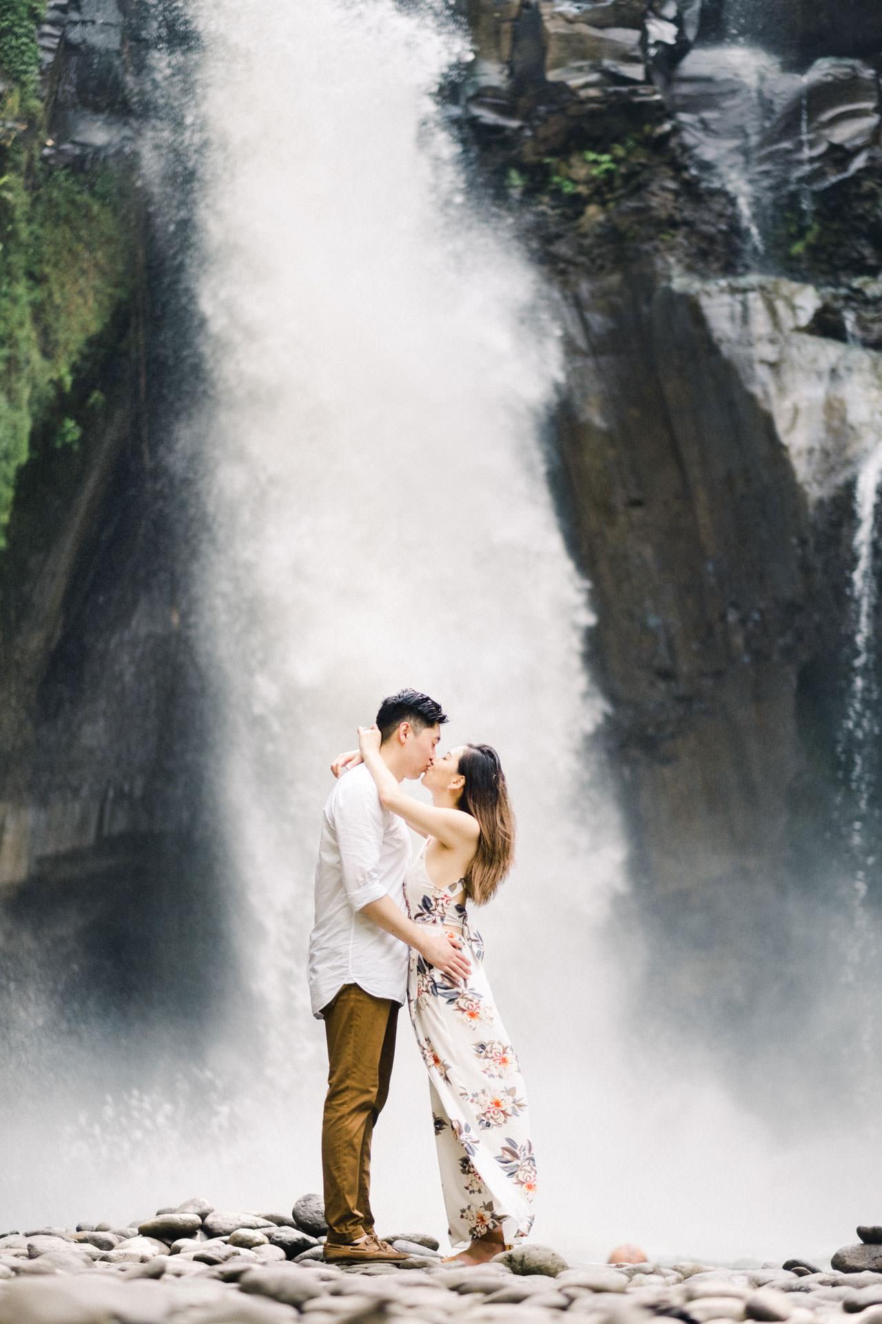 Adventurous Waterfall Surprise Proposal - Bali Vacation Proposal Ideas 24