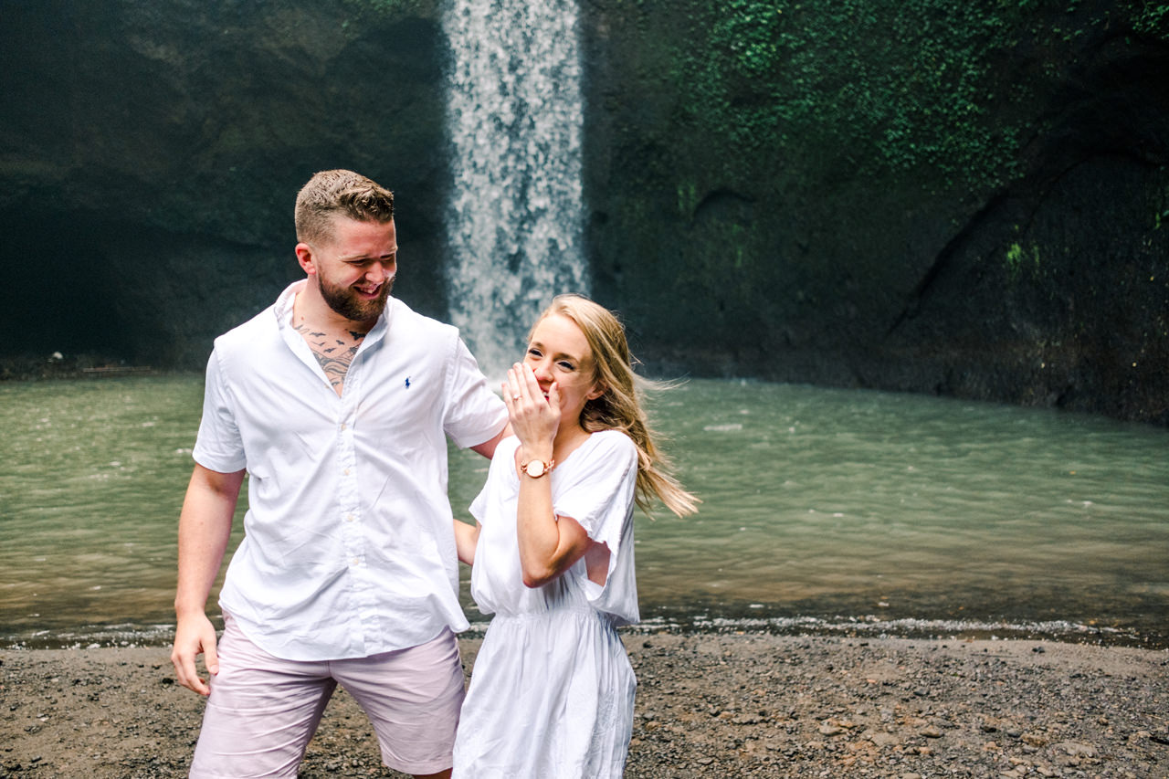 D&K: Tibumana Waterfall Bali Surprise Proposal 8
