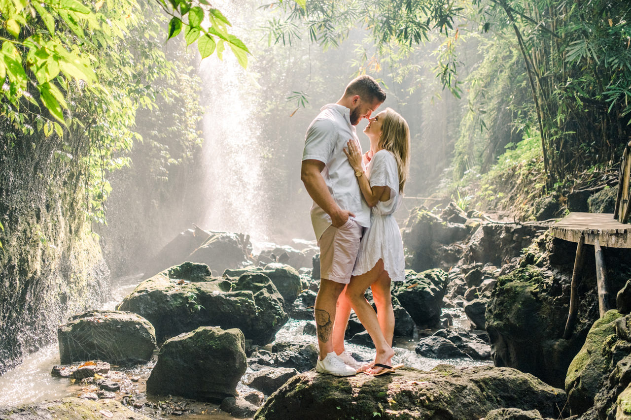 D&K: Tibumana Waterfall Bali Surprise Proposal 14