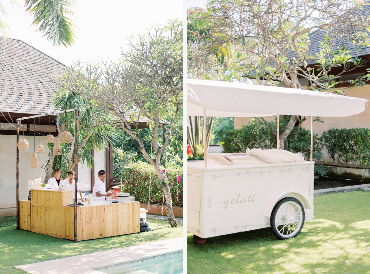 Ice Cream Gelati Cart Bali Wedding