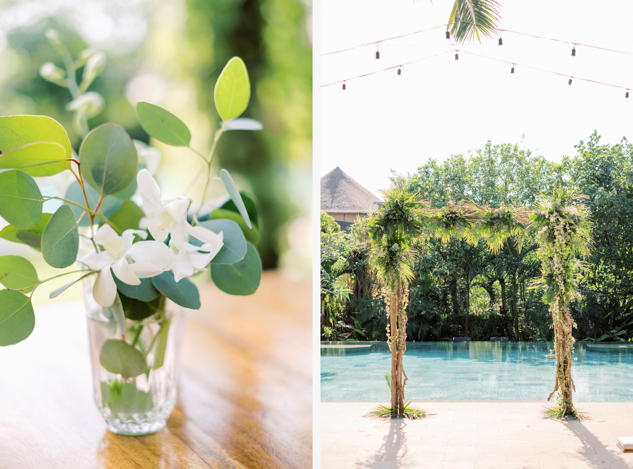 Tropical Greenery Wedding Arch Bali Wedding