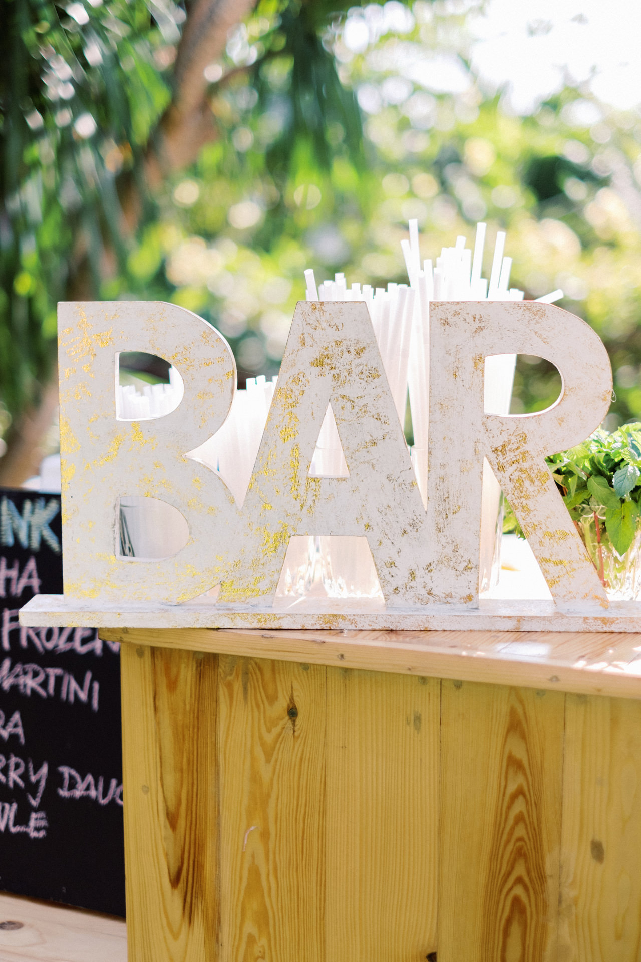 Bar or Cocktail Sign Bali Wedding