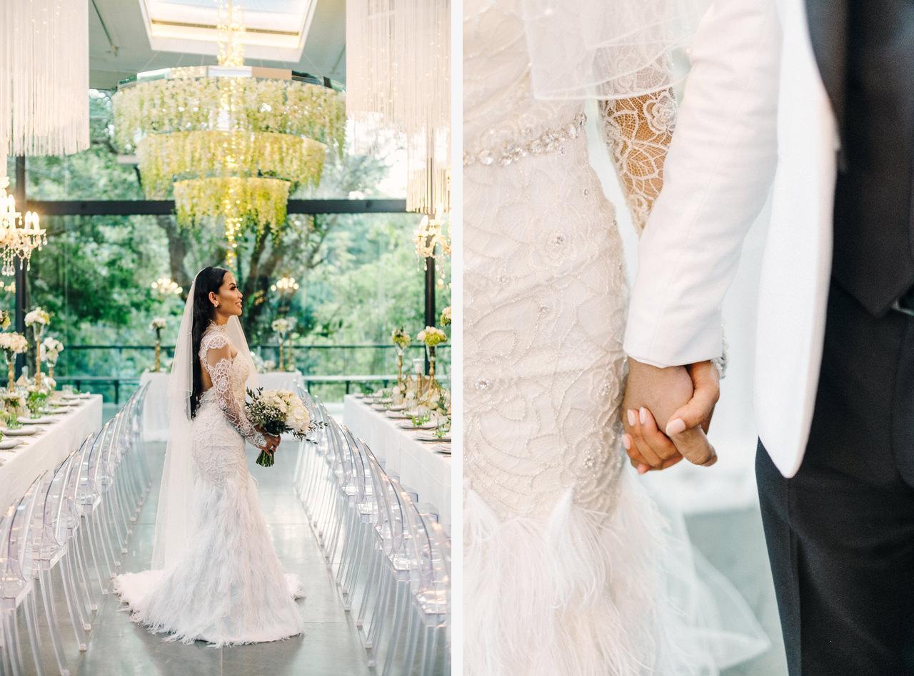 D&R: Luxury Bali Wedding Reception at The Glass House by Tirtha 21