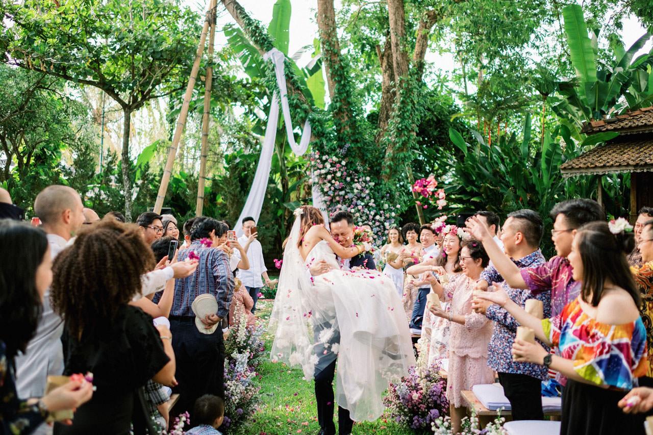 Whimsical Bali Forest Wedding at Puri Nirwana  43