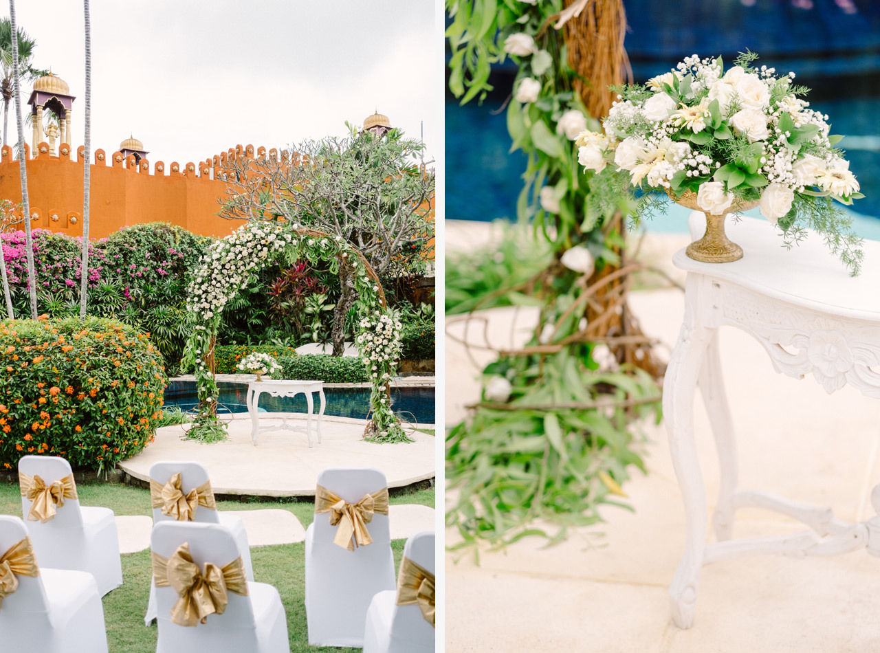 Bali Wedding Inspiration with an Indian & Middle Eastern Exotic Architecture 8