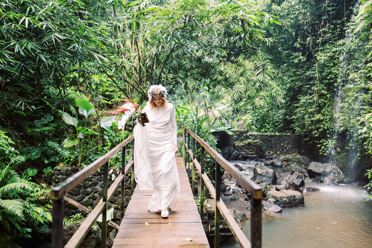 E&D: Tibumana Waterfall Bali Elopement 15