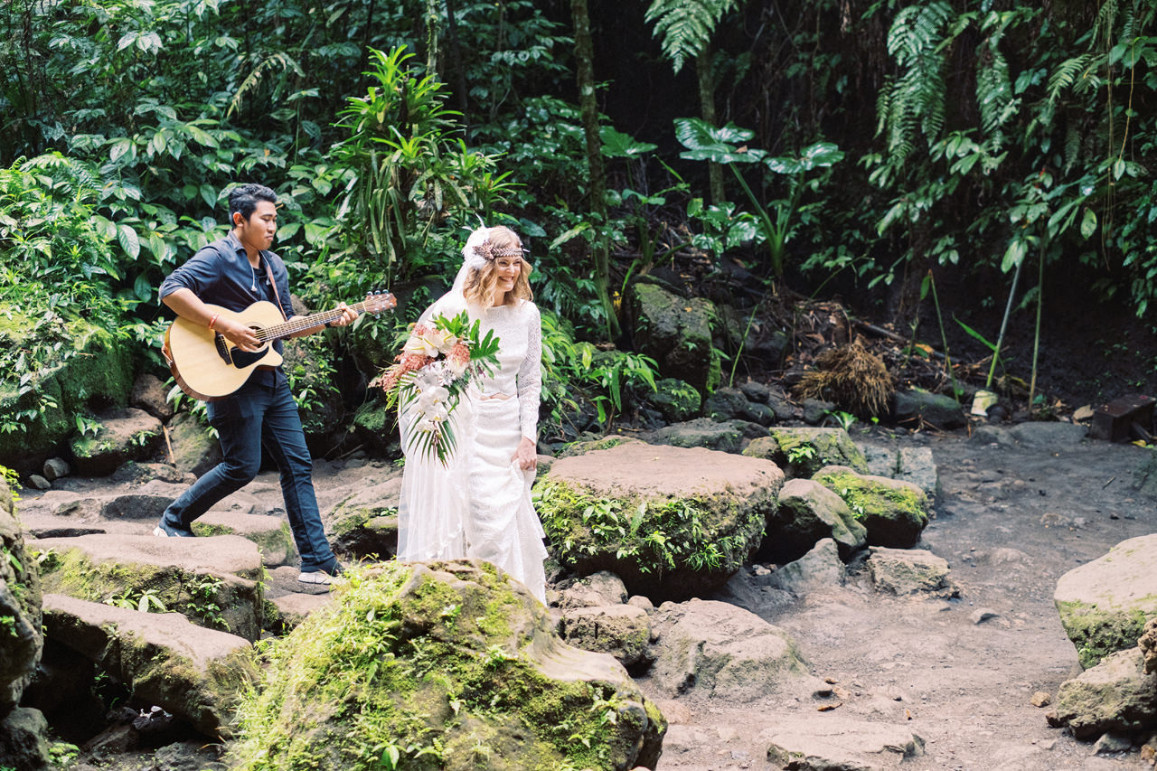 E&D: Tibumana Waterfall Bali Elopement 17